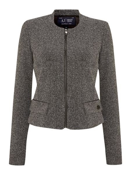 Armani Jeans Collarless fly front jacket