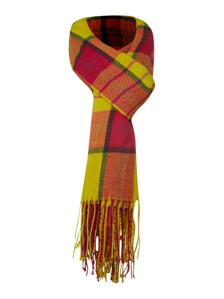 Linea Checked print scarf