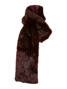 Tipped faux fur slot through scarf