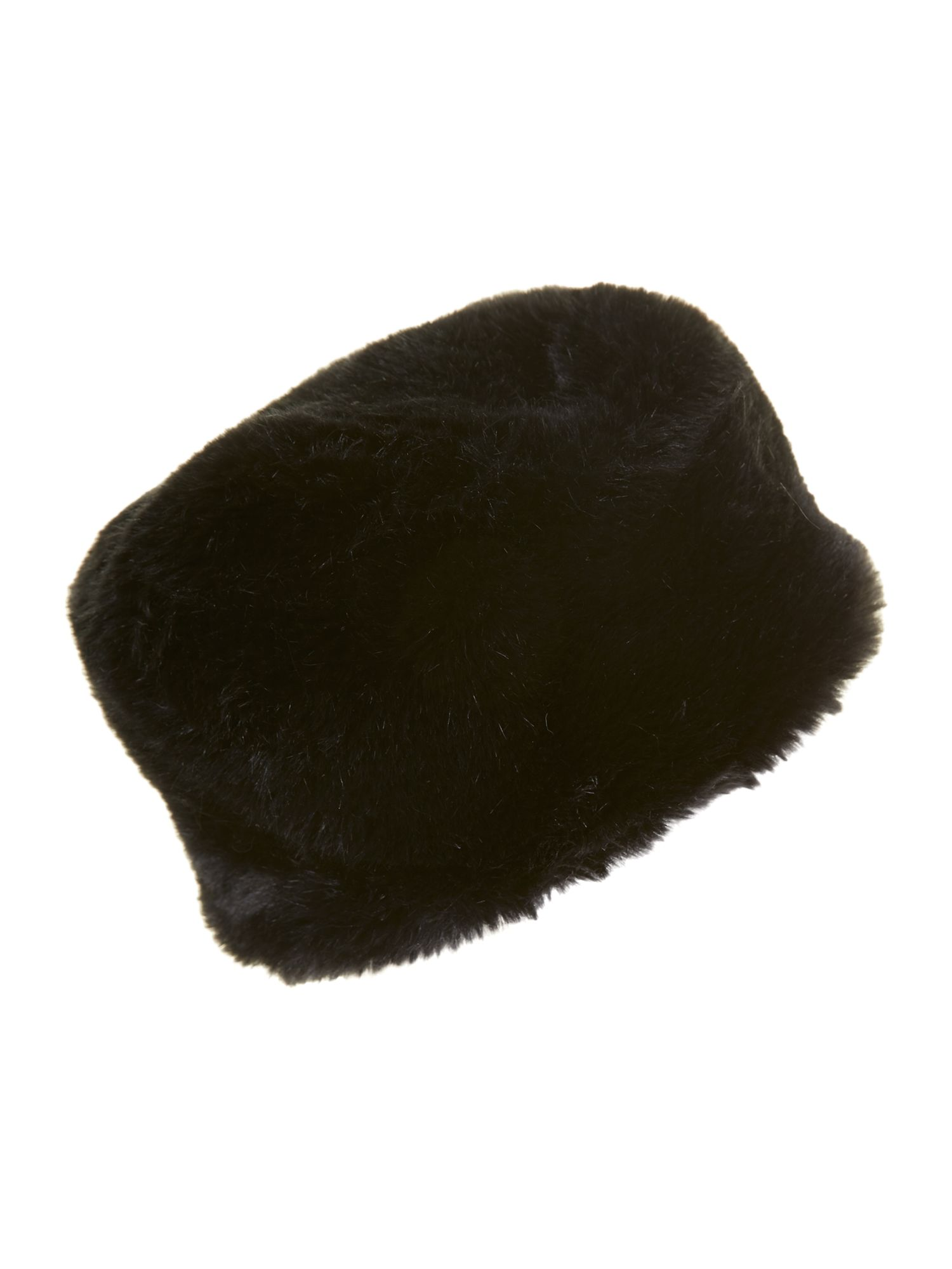 Faux fur cossack hat black