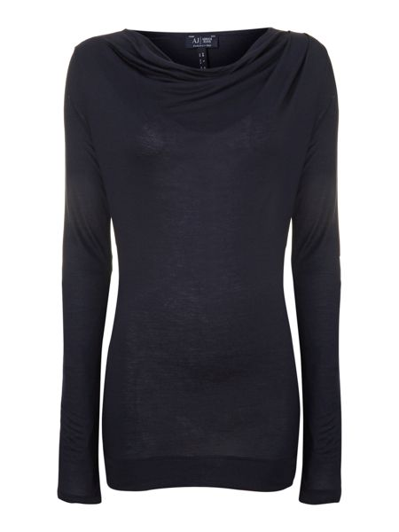 Armani Jeans Long sleeve jersey cowl neck top