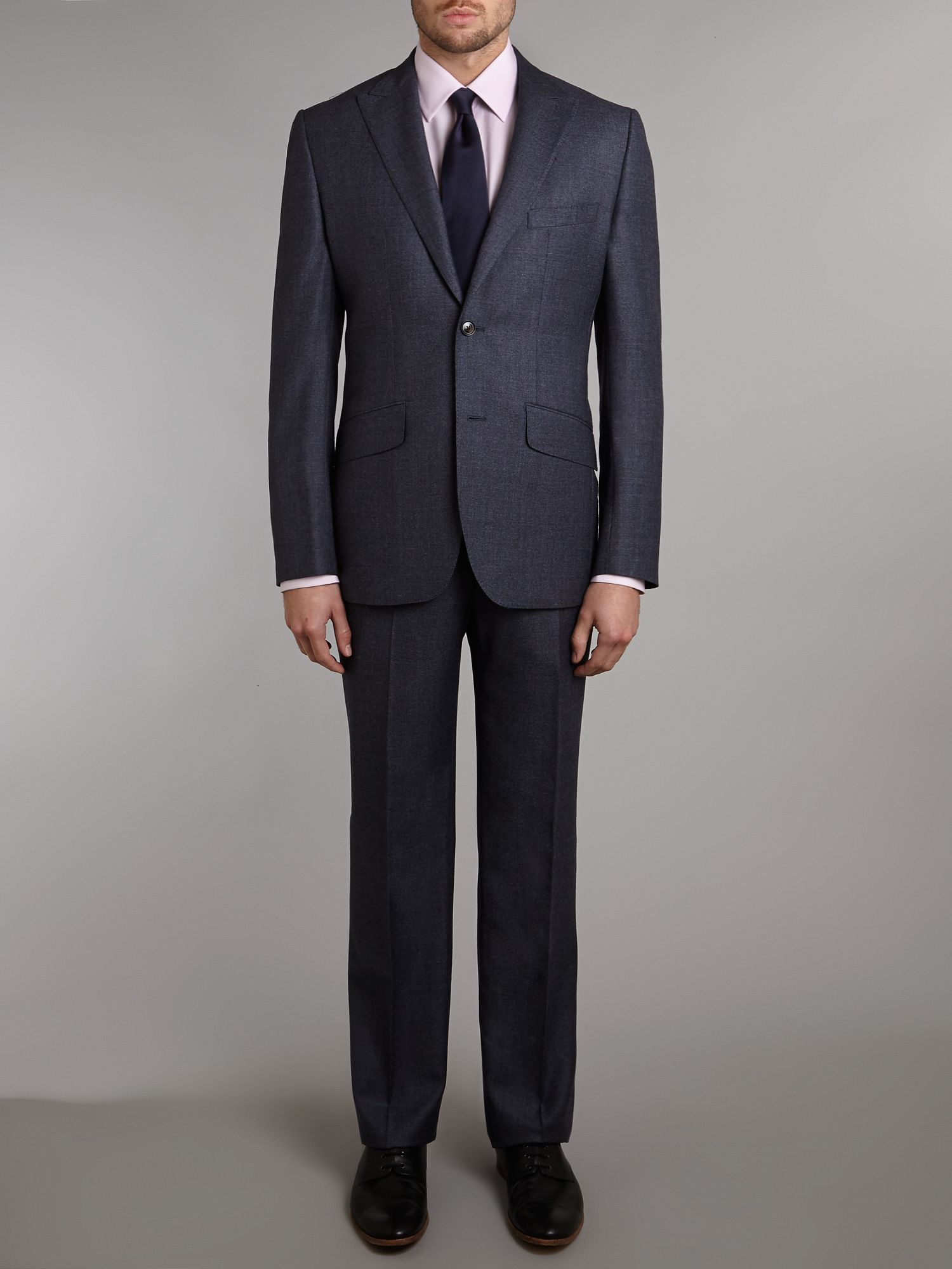 Pindot regular fit suit