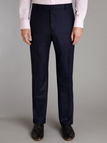 Flannel slim fit patch pocket trousers