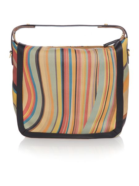 Paul Smith London Swirl print hobo bag