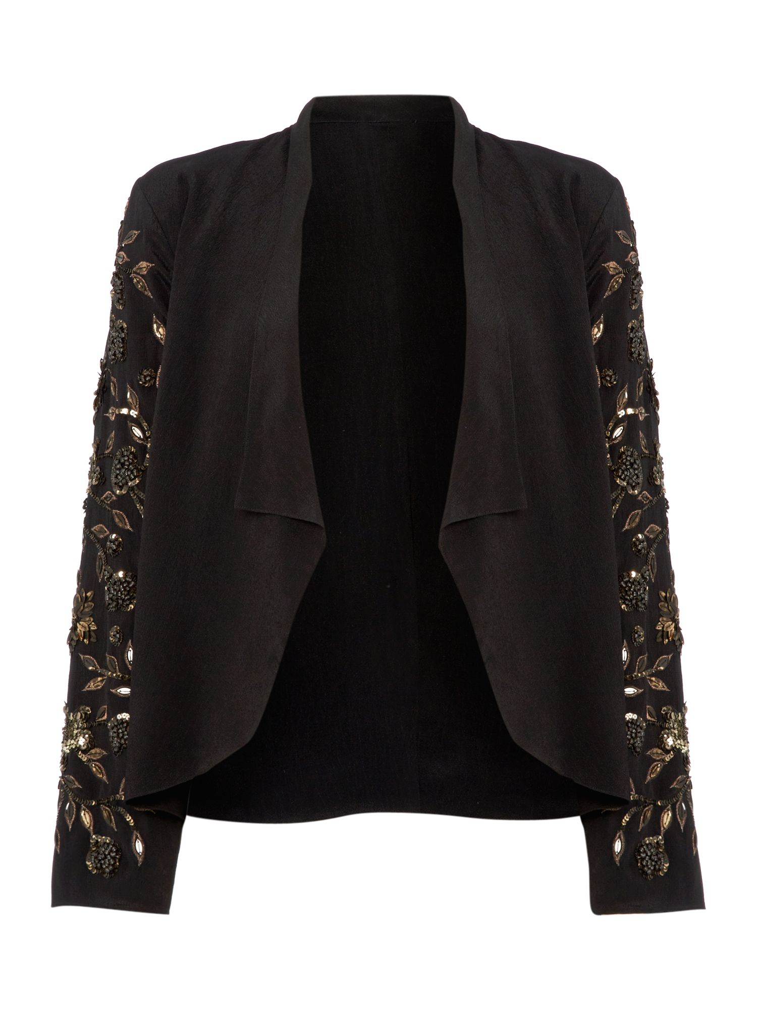 Embellished waterfall jacket