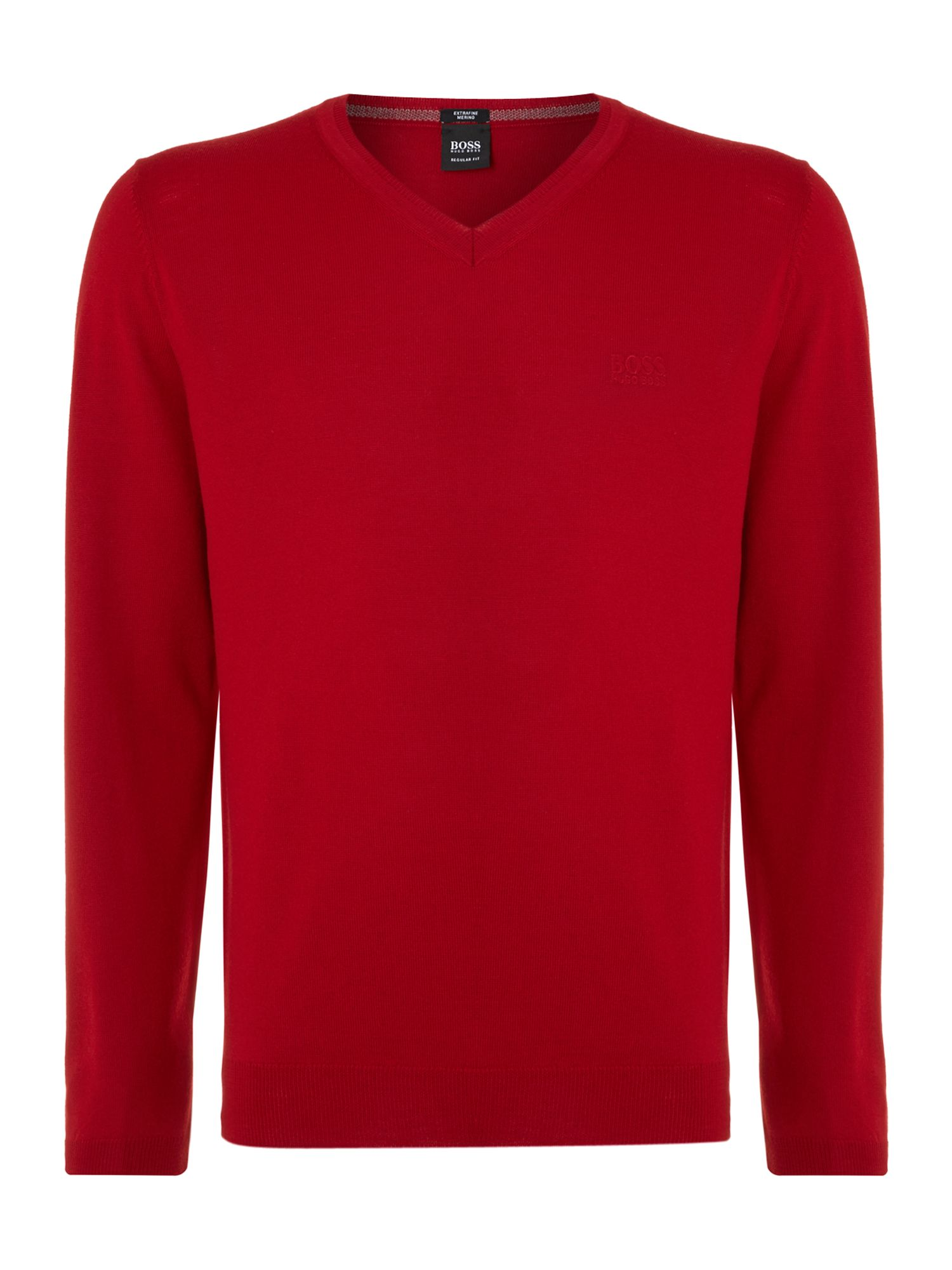 V neck merino knitted jumper