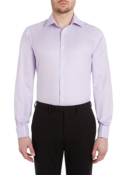tm lewin herringbone non iron slim fit shirt lilac house