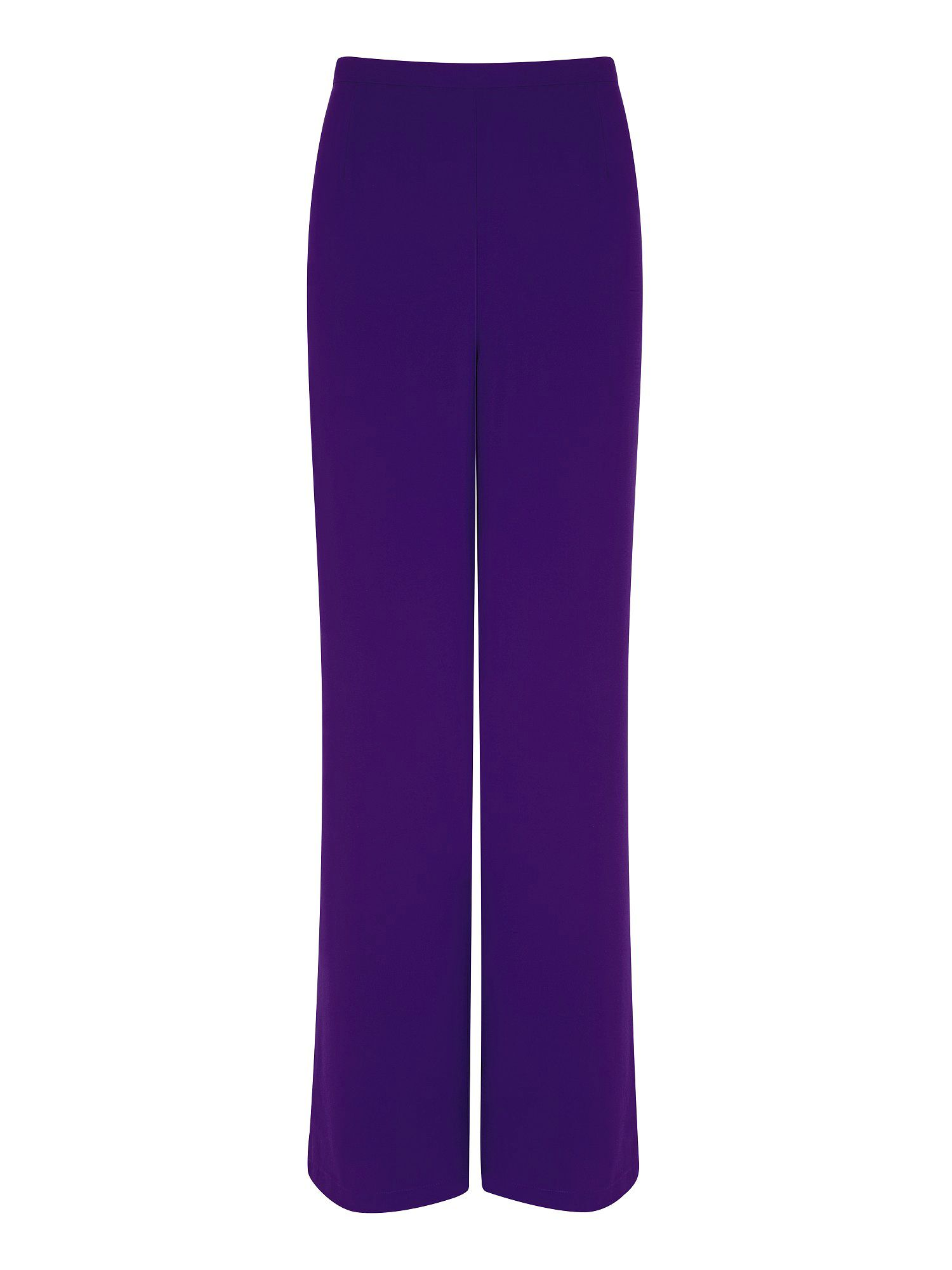 Blackcurrant chiffon trousers