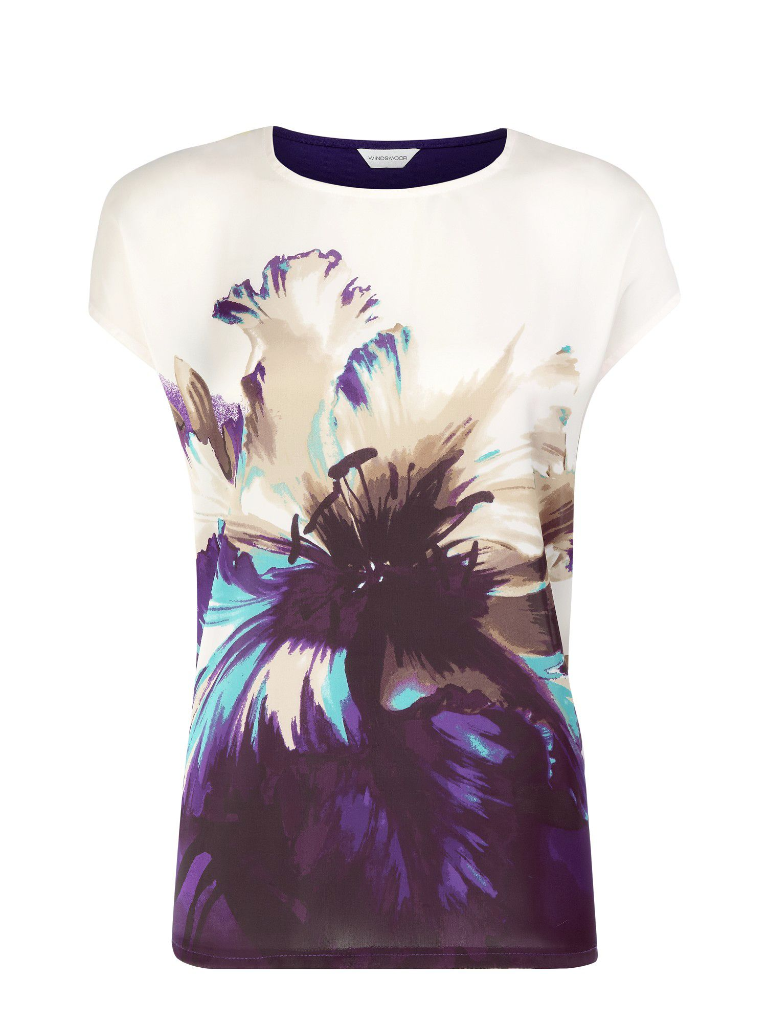 Graphic flower top
