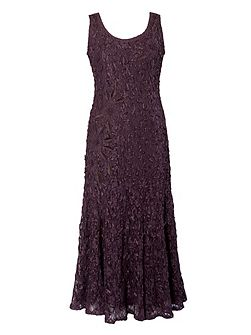 Plus Size Lace dress with cornelli trim