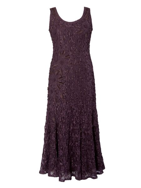 Chesca Plus Size Lace dress with cornelli trim
