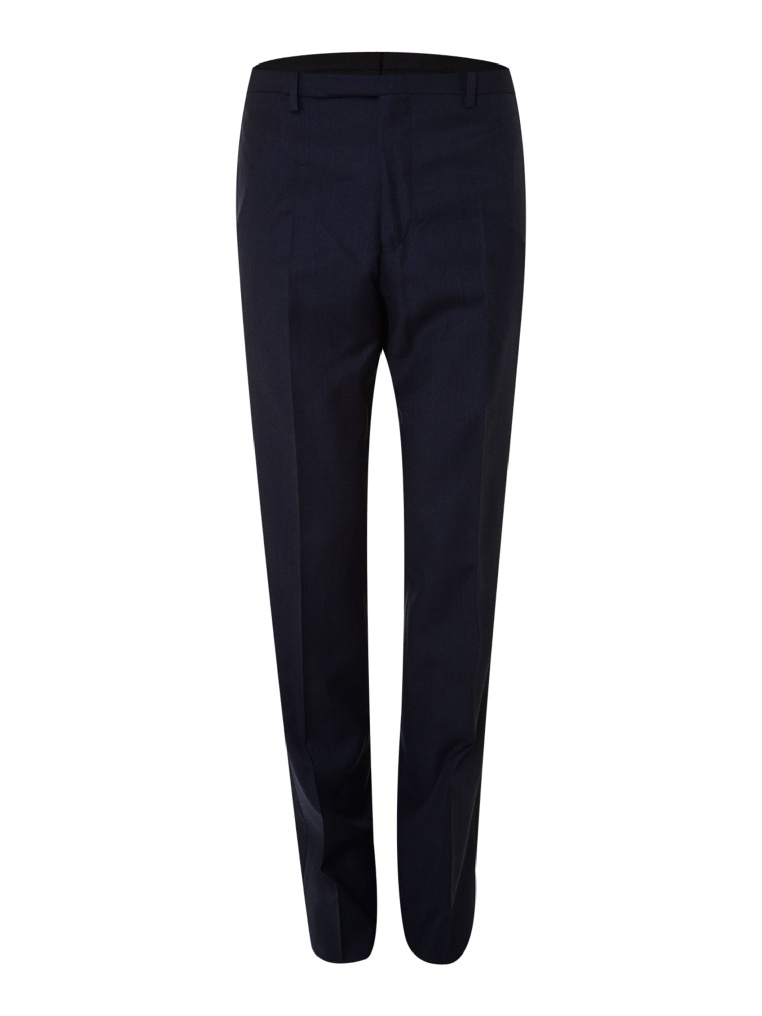 Peak lapel slim fit trousers