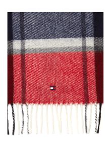Zac check scarf in a box