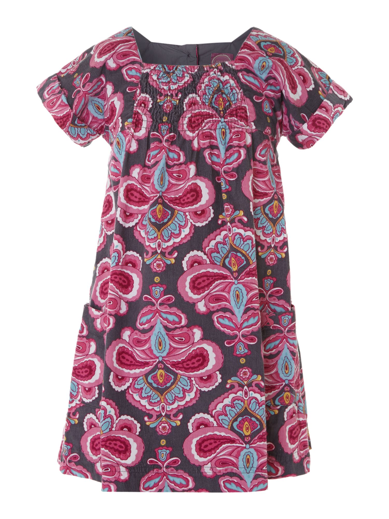 Girl`s printed cord dress