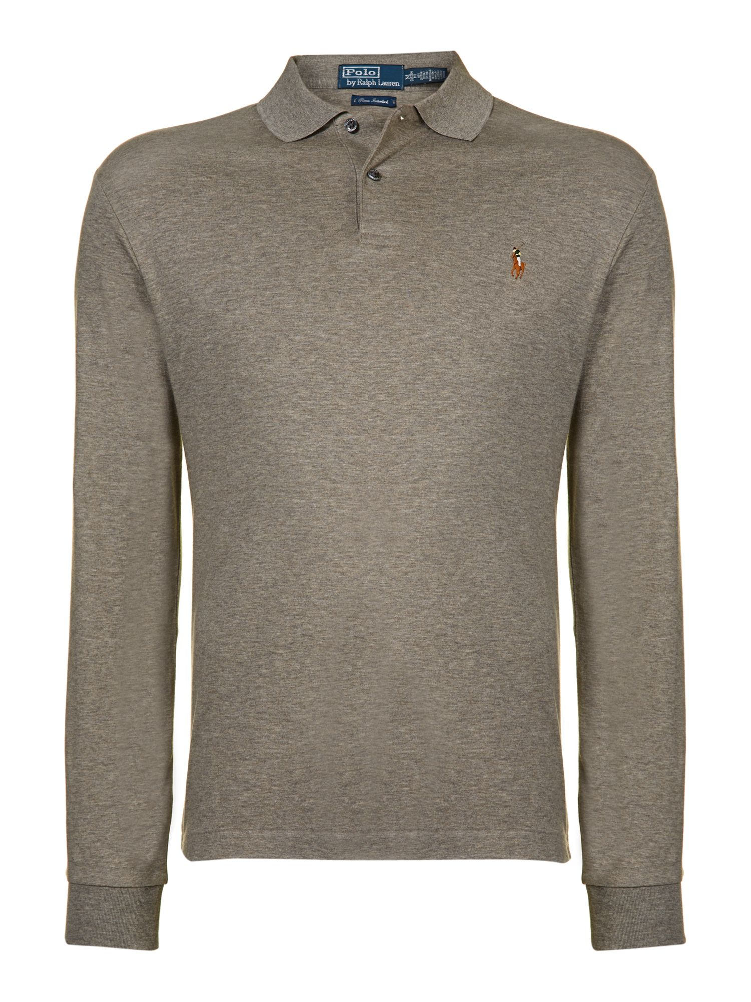 Classic long sleeve custom fit prima cotton polo