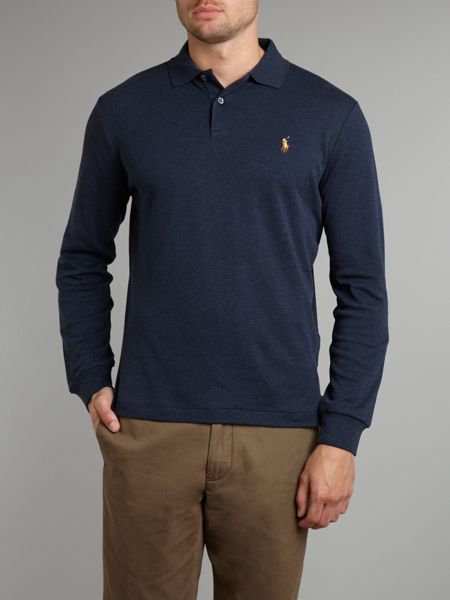 Polo Ralph Lauren Classic long sleeve custom fit prima cotton polo