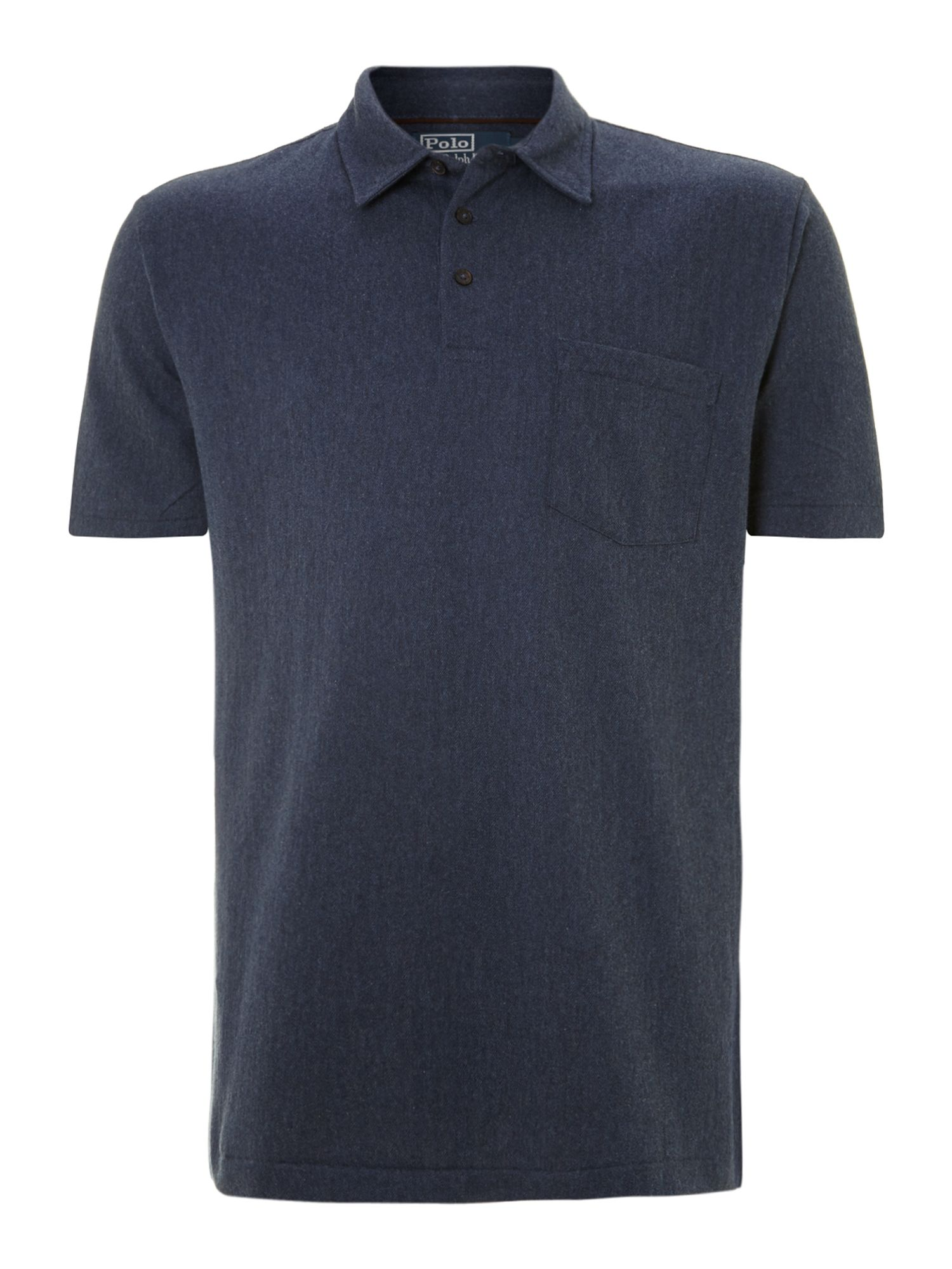 Soft mini herringbone polo shirt