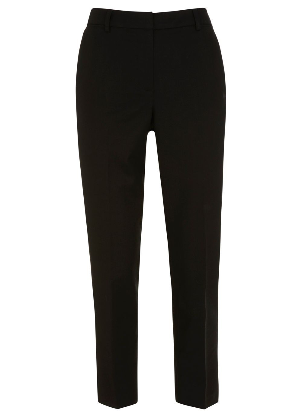 Black stretch capri