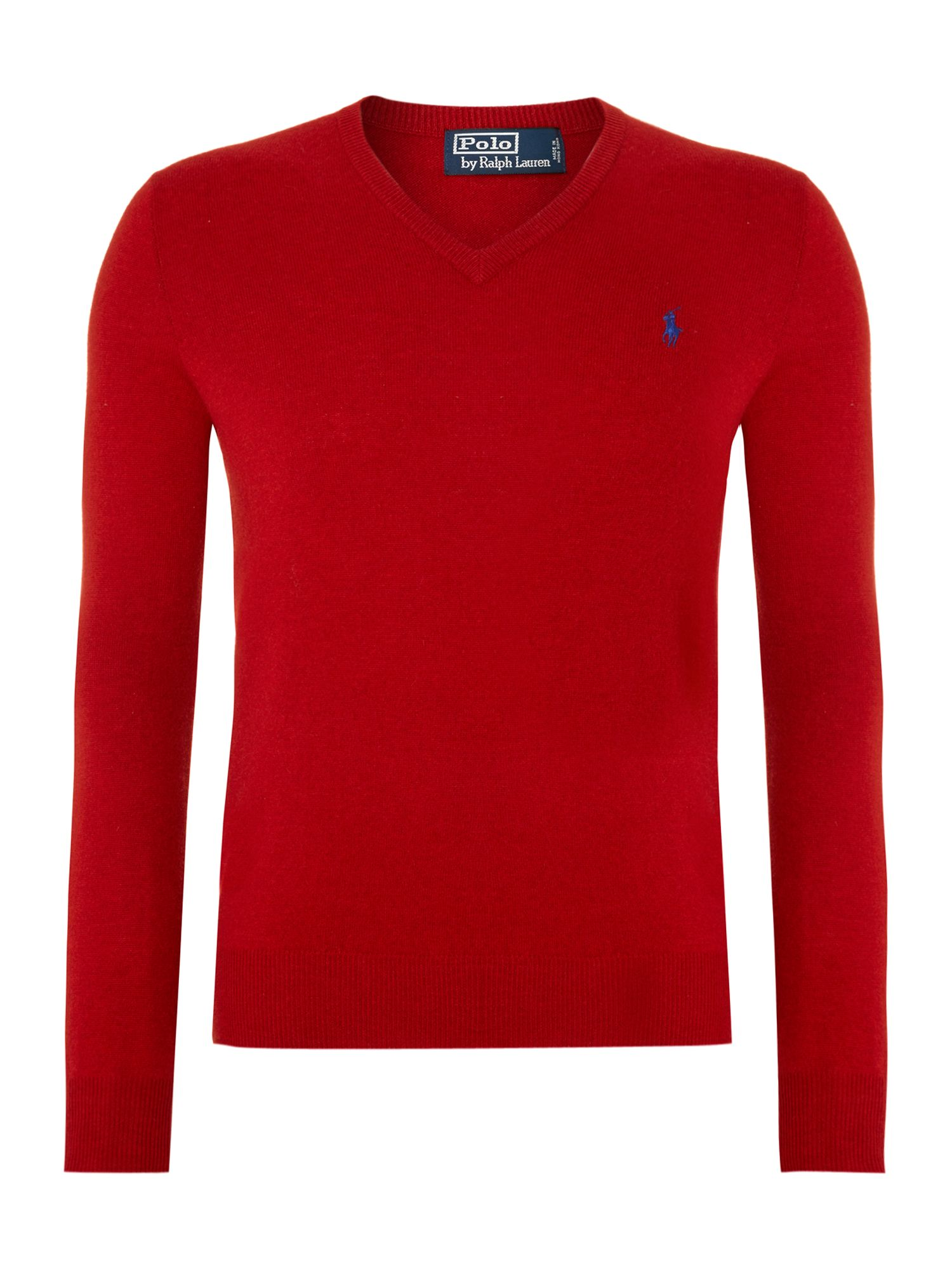 Classic merino wool v neck jumper