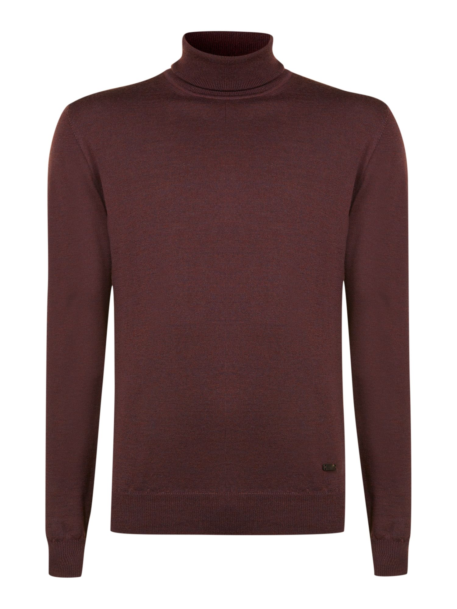 Merino wool roll neck regular jumper
