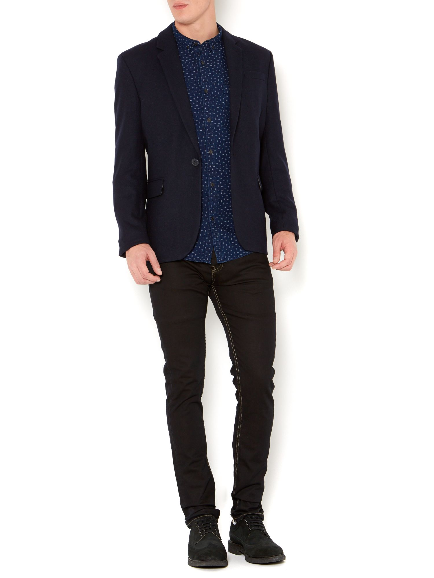 Solomon single breasted two button blazer