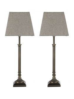 Gemini - twin pack candlestick brass