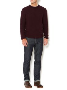 Bordeaux crew neck knit