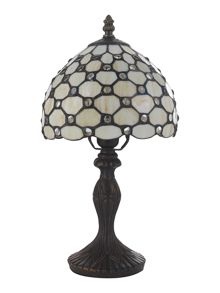 Linea Tiffany raindrop 8 table lamp