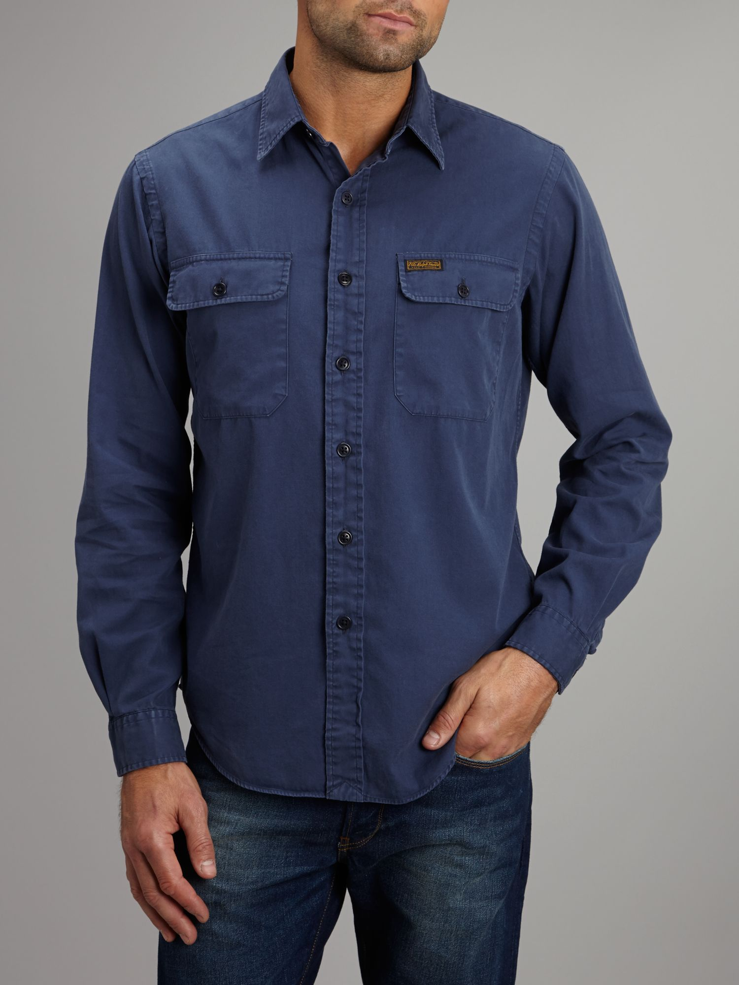 Long sleeve military shirt