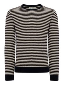 lennox stripe crew neck knit jumper
