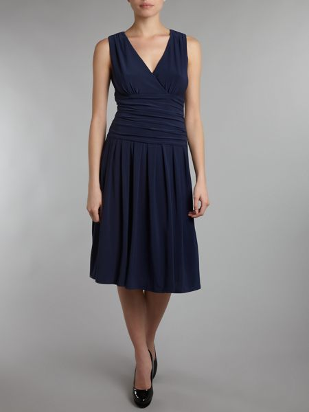 Sleeveless Ruched Waist Dress
