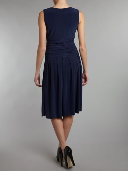 Eliza J Sleeveless Ruched Waist Dress