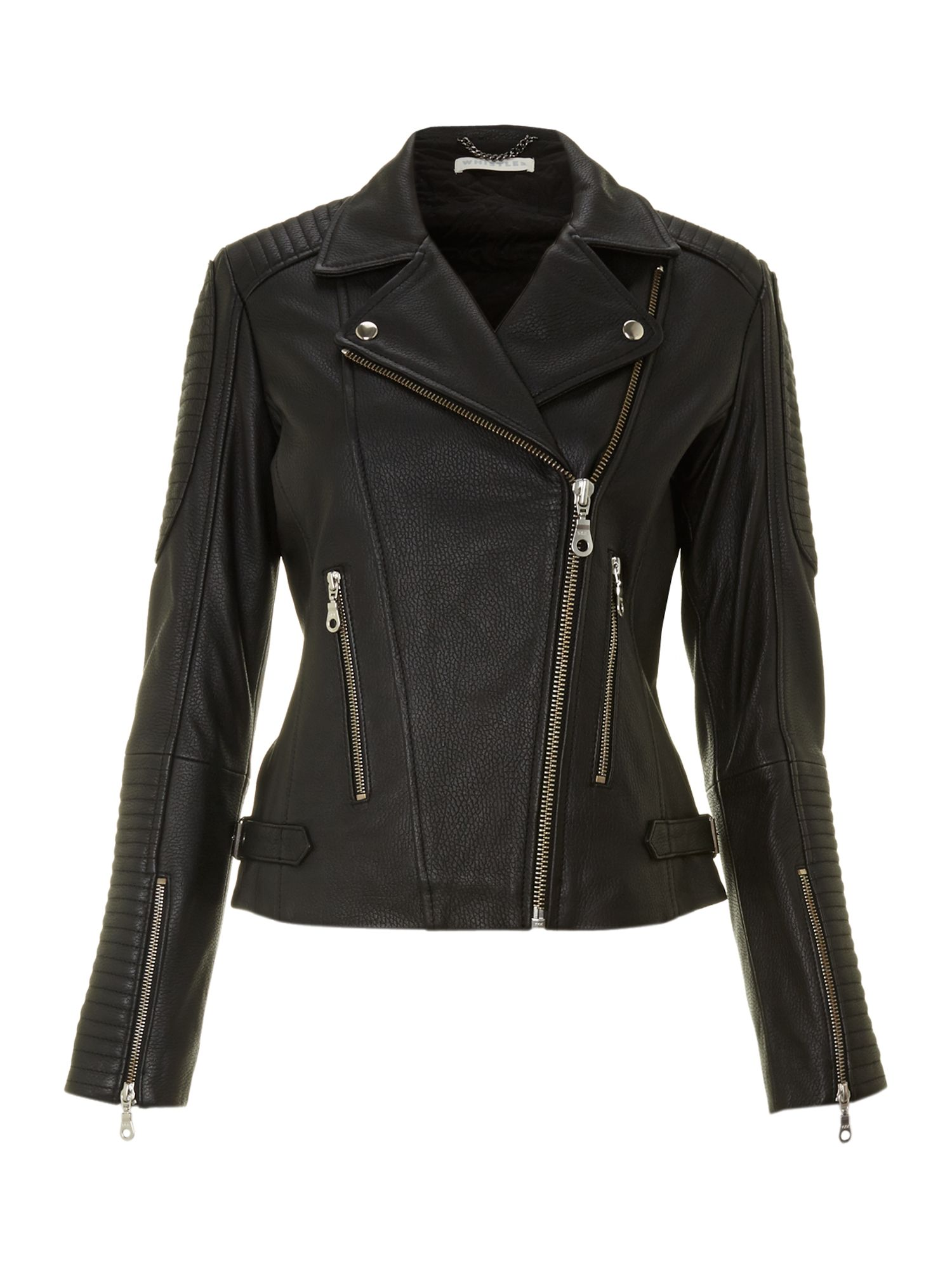 Patti leather biker jacket