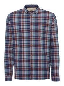 dahomey check long sleeved shirt