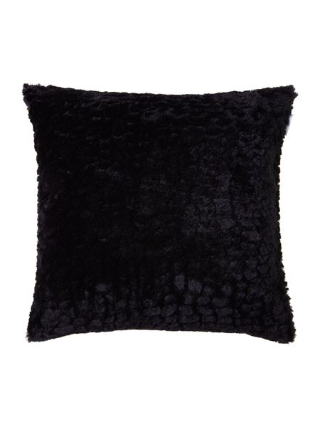 Pied a Terre Rabbit faux fur cushion, black