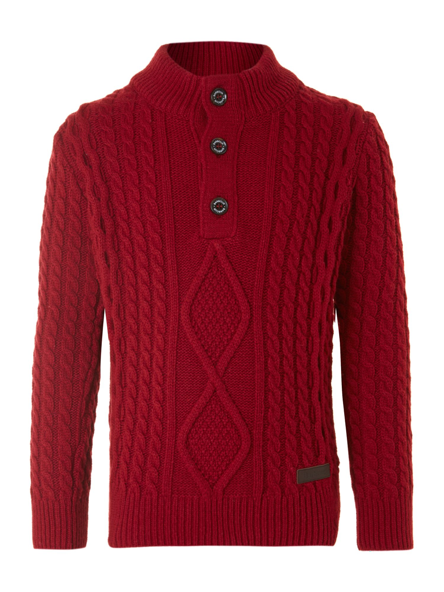 Boy`s Kirkham half button jumper