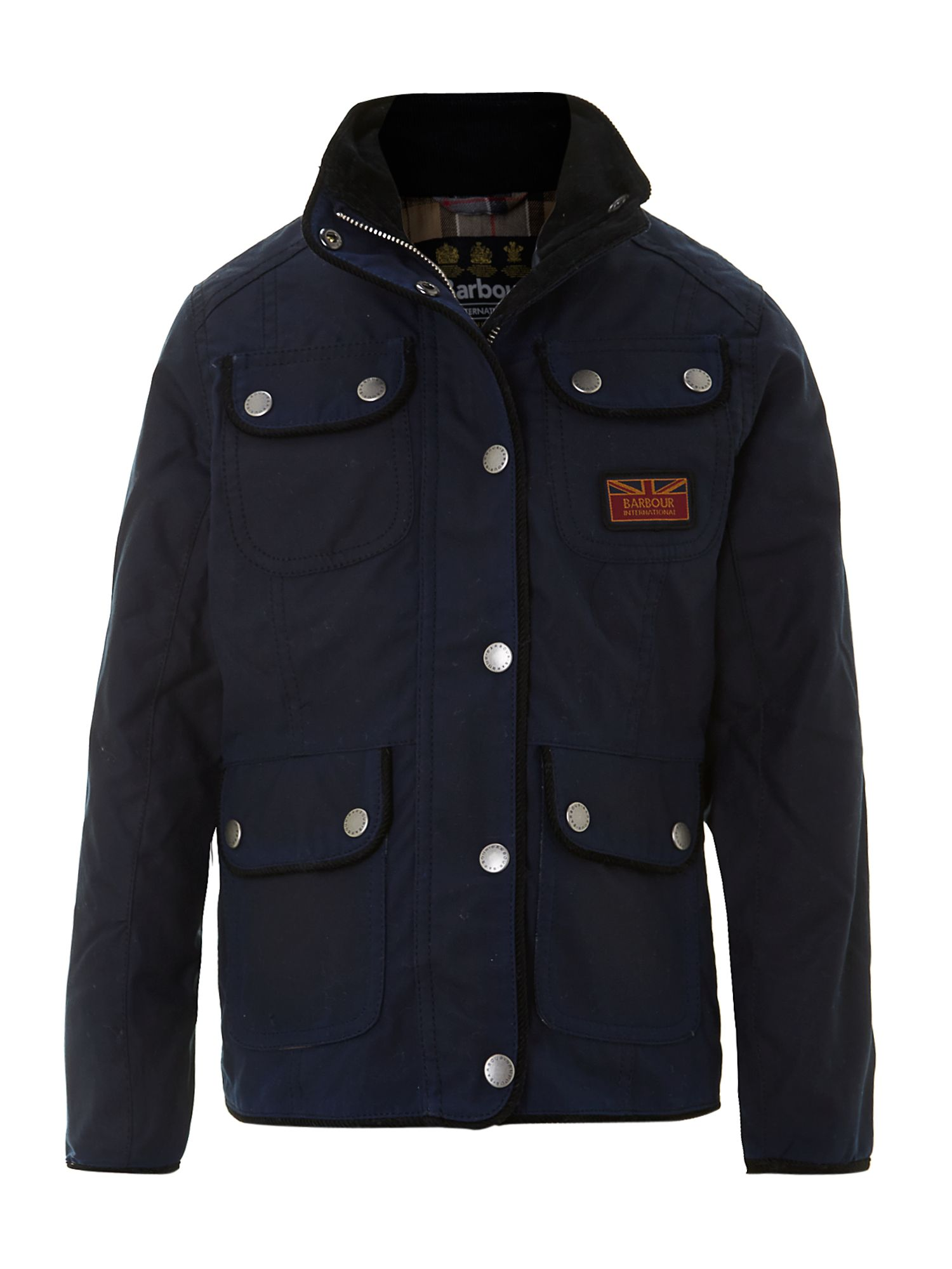 Girl`s waxed Glencoe jacket