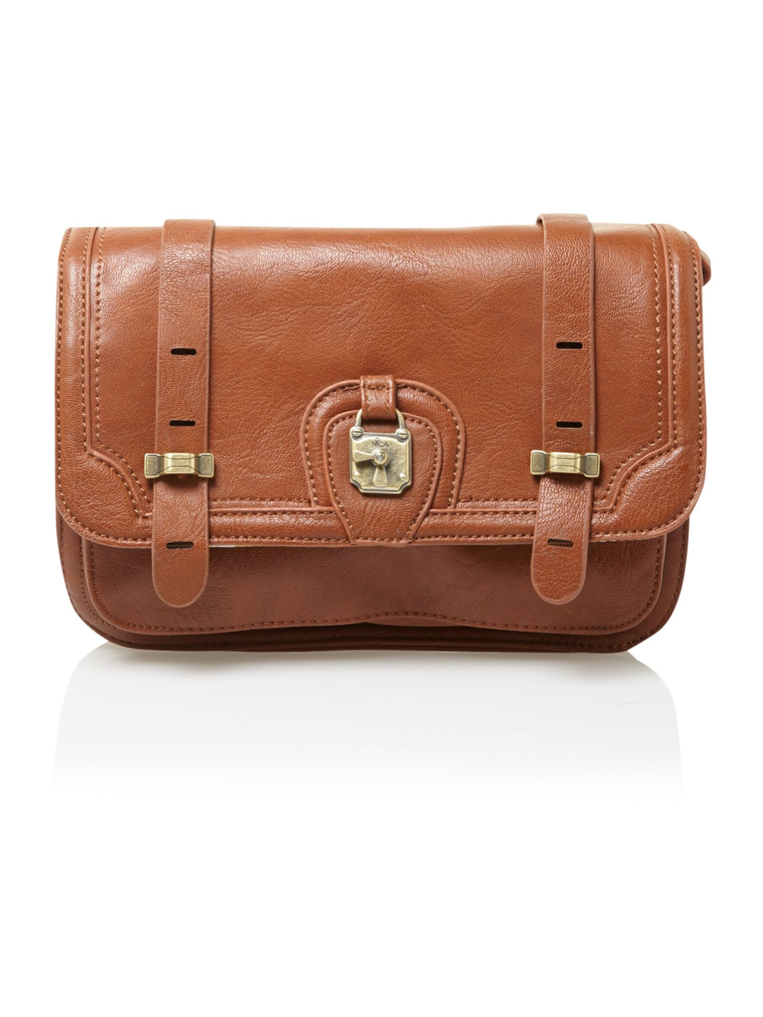 Small brown satchel bag