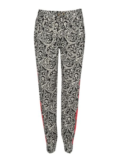 Jane Norman Printed embroidered tailored joggers