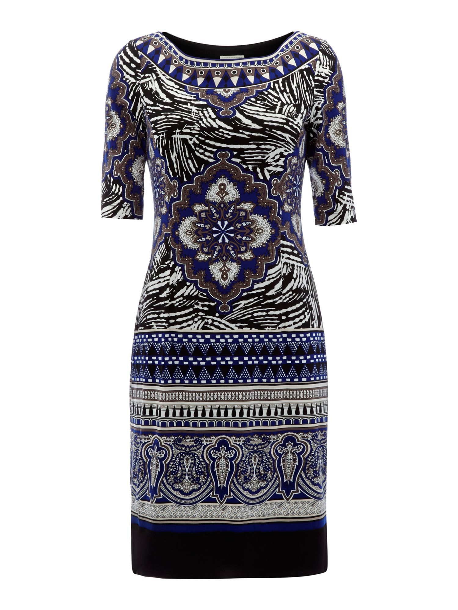 3/4 Sleeve aztec tunic dress