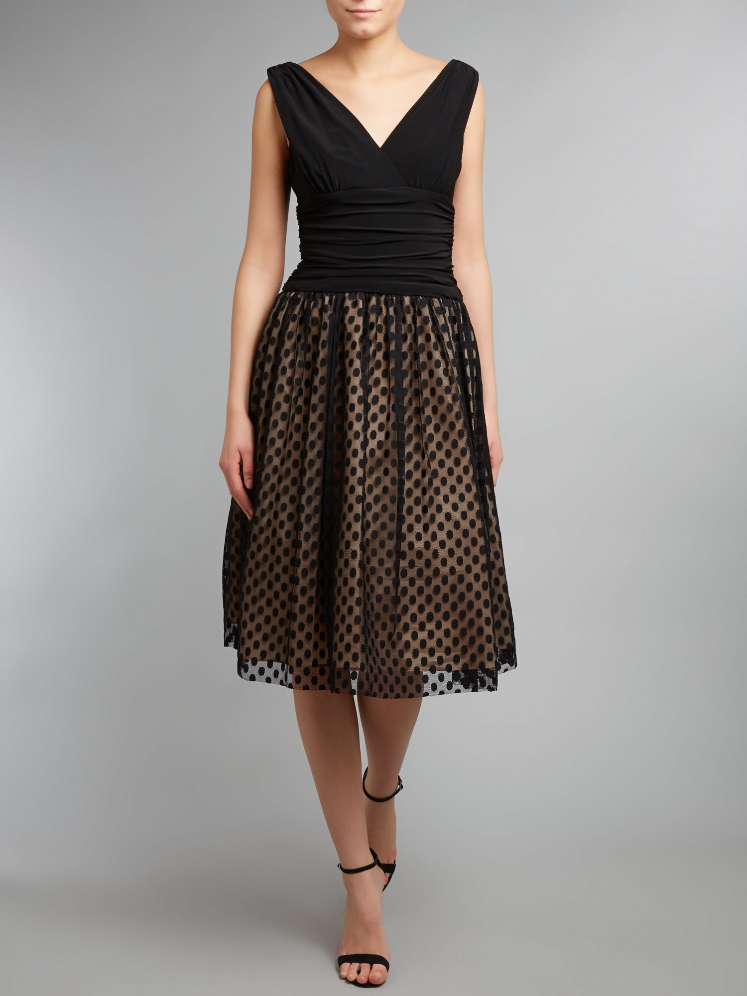 Spotted Skirt 50`s Style Dress