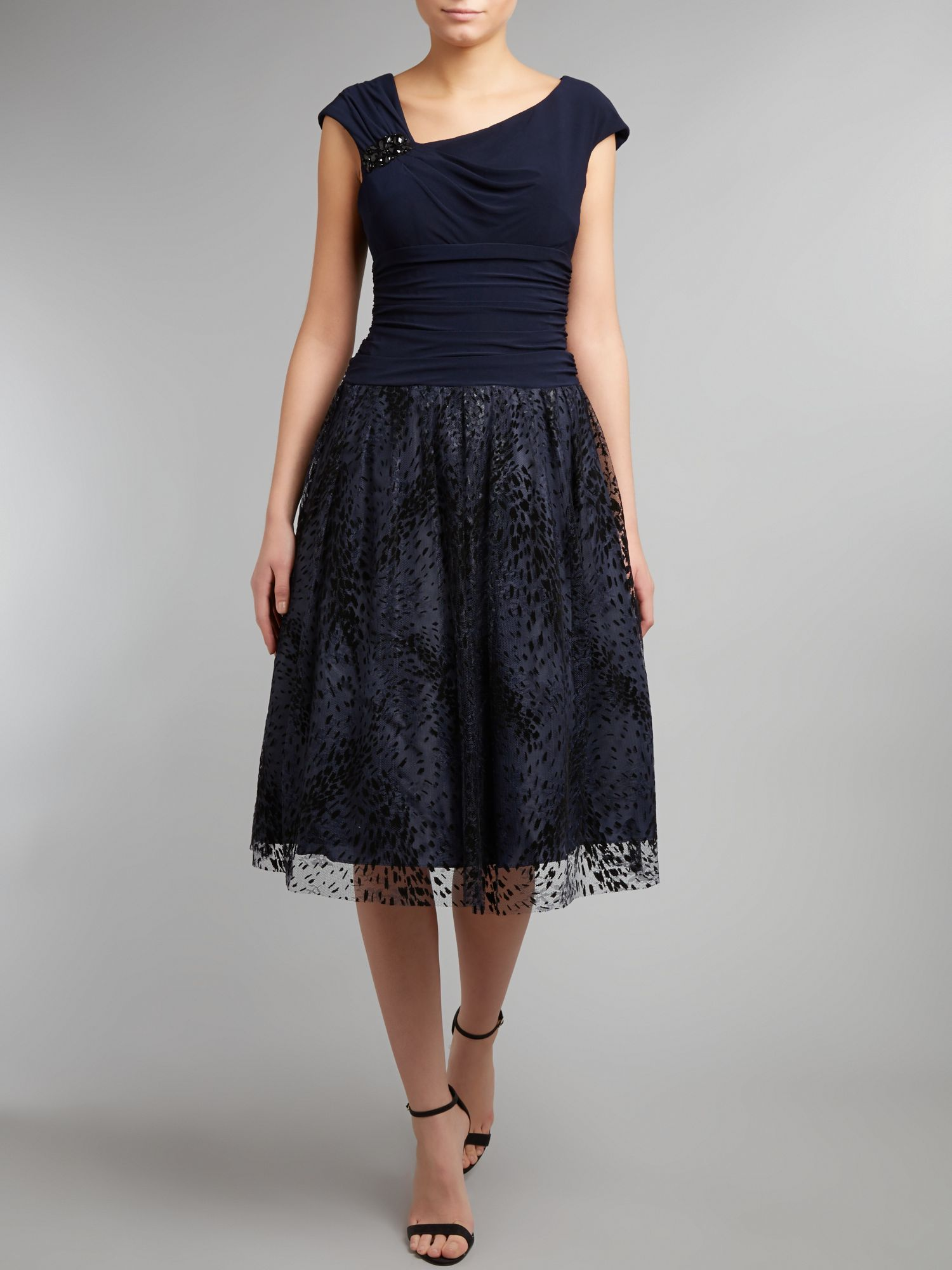 Burnout lace skirt dress