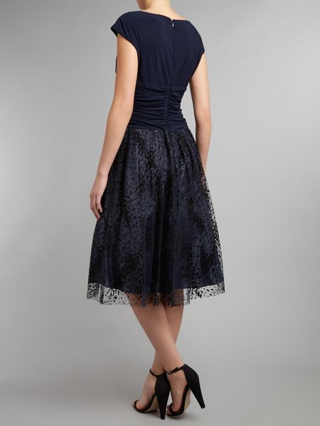 Eliza J Burnout lace skirt dress