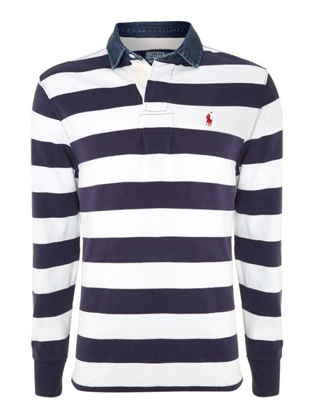 Polo Ralph Lauren Striped custom fit rugby top