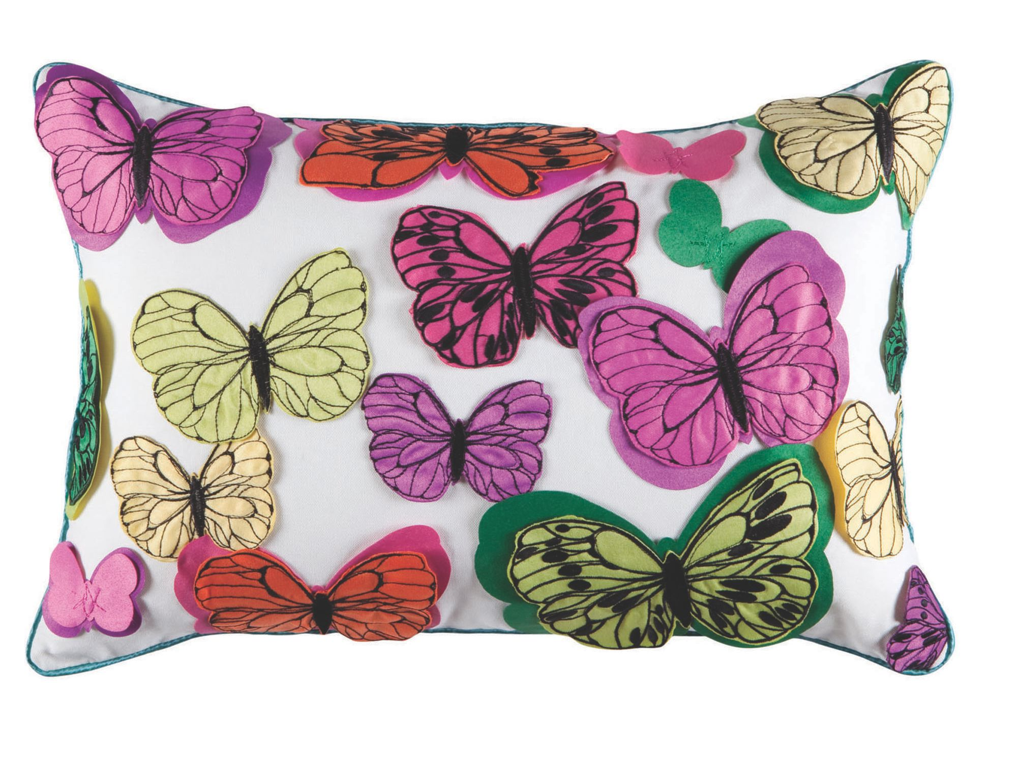 Chintz butterfly cushions 35x50cm multi