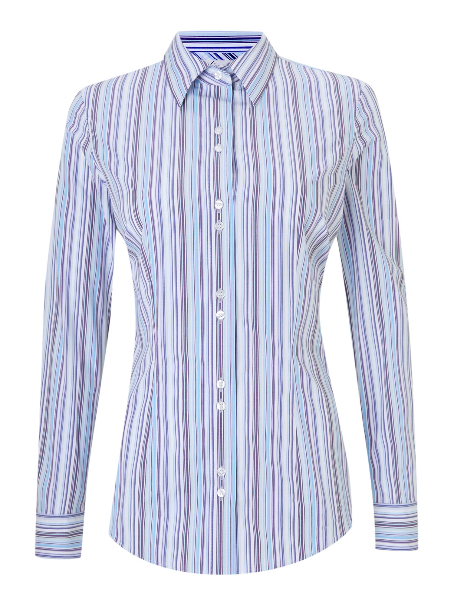 Hawes & Curtis multi blues stretch shirt