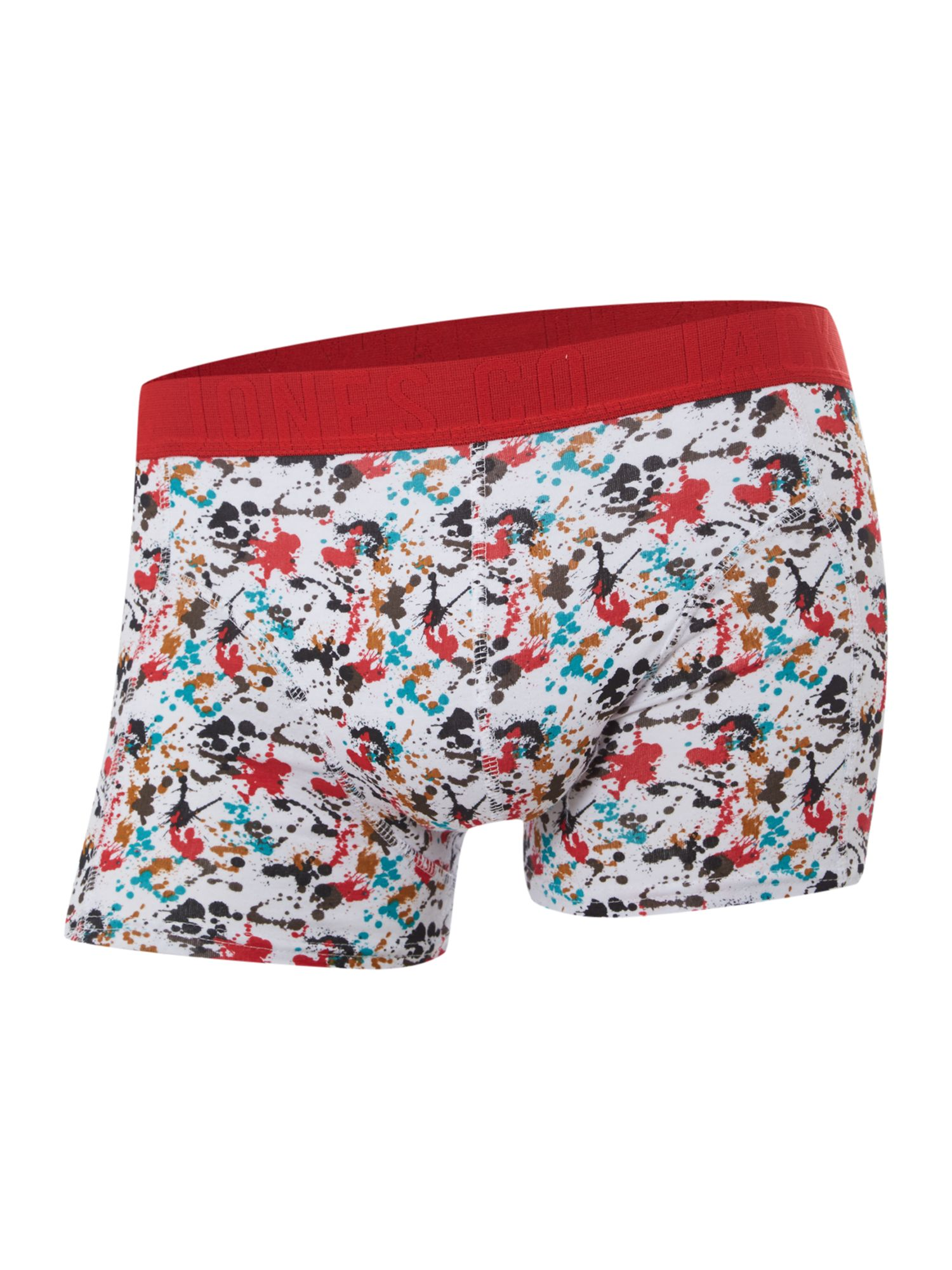 4 pack splatter print and plain trunks
