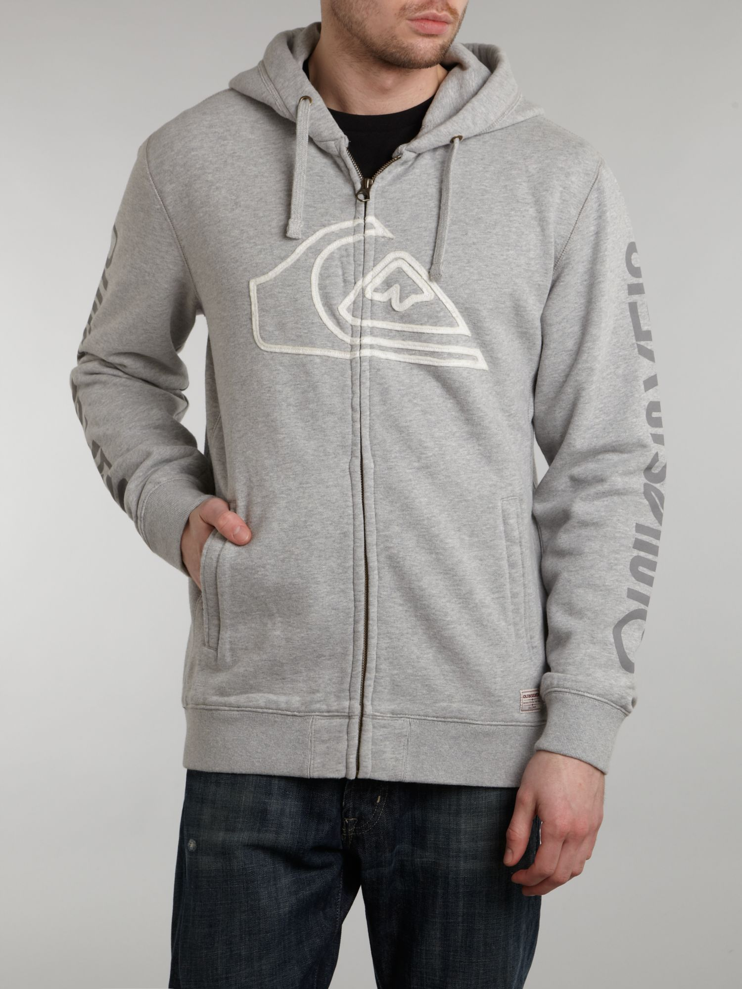 Full zip logo hoody