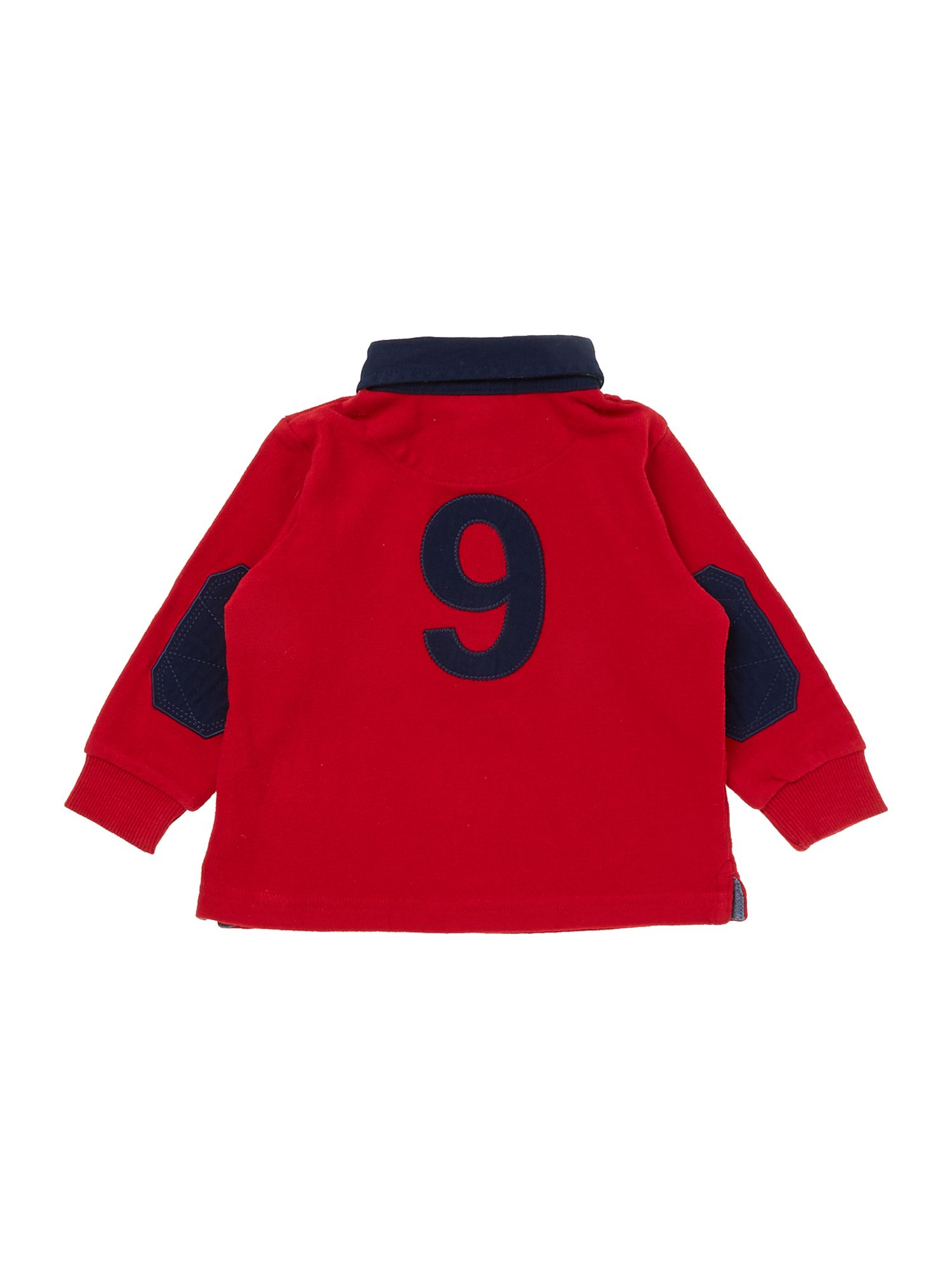 Boy`s contrast collar rugby shirt