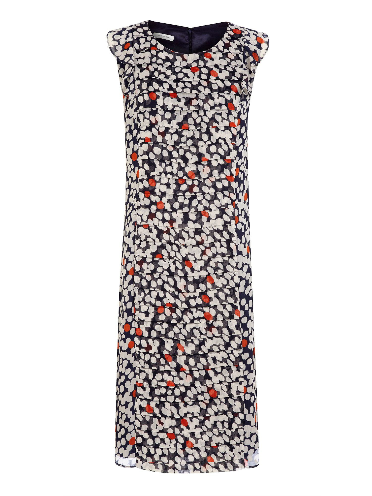 Spot print chiffon dress